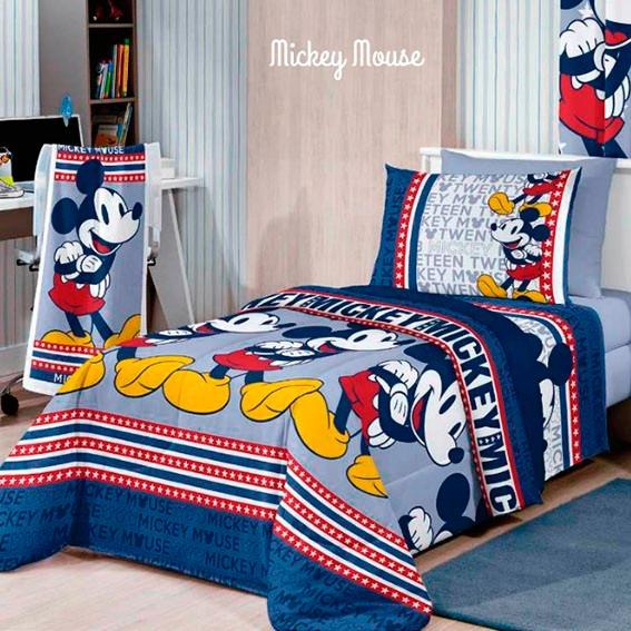 9a033e7b11 Jogo Lençol Solteiro 3 Peças Mickey Mouse - Santista - R  69