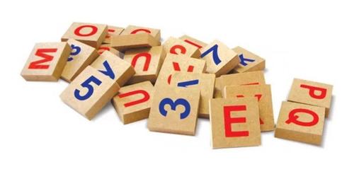 jogo letras e números educativo  72 pçs 50576 xalingo