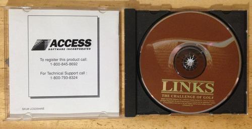 jogo links the challenge of golf - cd-rom para ms-dos 1991