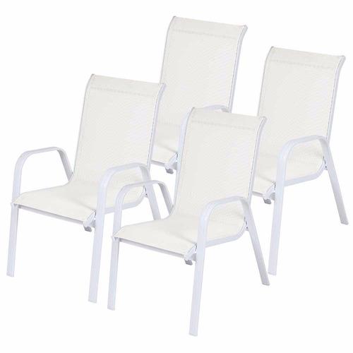 mesa jardim ombrelone:Jogo Mesa 4 Cadeiras Ombrelone Área Externa Jardim Varanda – R$ 1.749