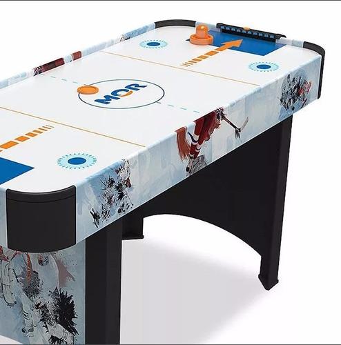 jogo mesa de disco air hockey rush ideal p/ casa e bares mor
