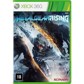 Jogo Metal Gear Rising Xbox360  Em Dvd Original Usado