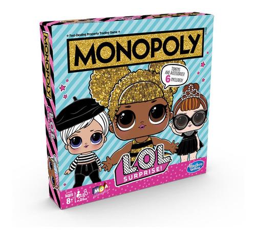 jogo - monopoly - lol surprise - hasbro