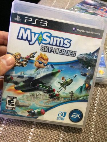 jogo my sims sky heroes ps3