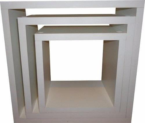 jogo nichos quadrado mdf branco decorativo livros infantil