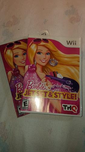 jogo nintendo wii barbie jet, set and style - importado usa