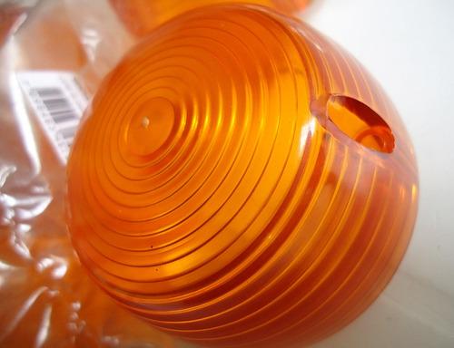 jogo novo de lentes dos piscas cg 125 bolinha honda 76 à 82