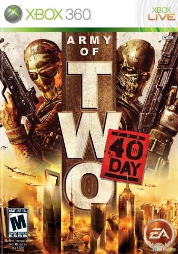 jogo novo lacado army of two the 40th day xbox 360