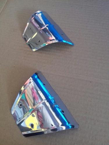 jogo ou kit inox fusca 8 peças polaina reforço borboleta