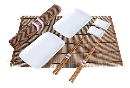 jogo p/ comer comida japonesa sushi sashimi hashi 10 peças