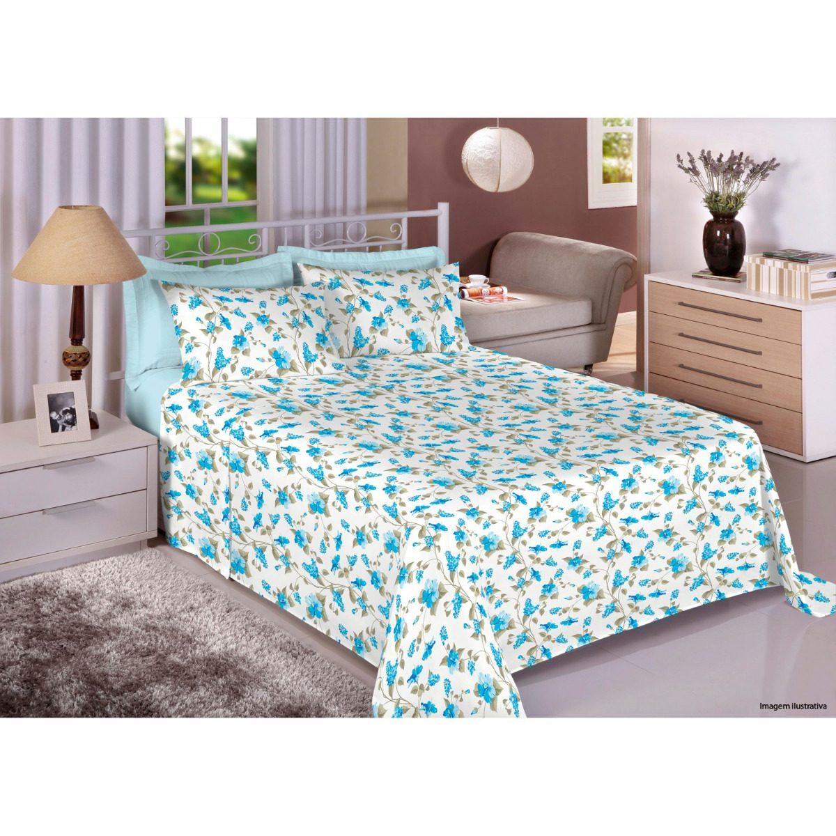 97f6b4211c jogo para cama casal duplo com elástico 4 peças premium plus. Carregando  zoom.