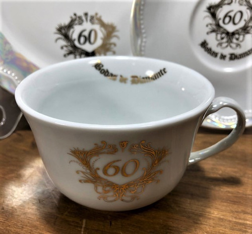 jogo para chá bodas 60 anos