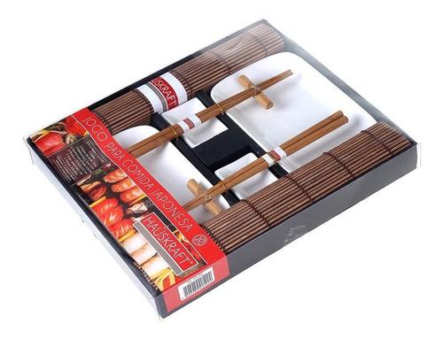 jogo para comida japonesa sushi sashimi hashi kit 10 peças