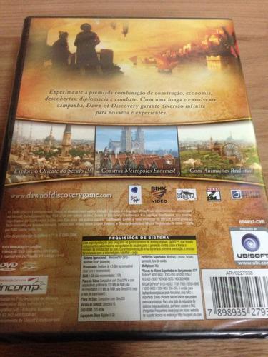 jogo para pc dawn of discovery pt-br novo e lacrado