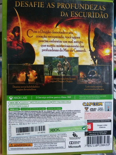 jogo para xbox 360 dragon dogma dark arisen