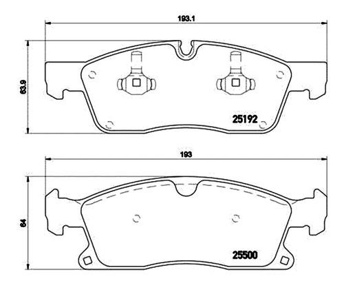 jogo pastilha freio diant mercedes ml350 3.0 12 15 low metal
