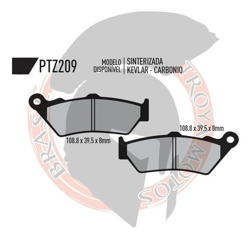 jogo pastilha yamaha xt 660r dianteira/tras potenza 209 213