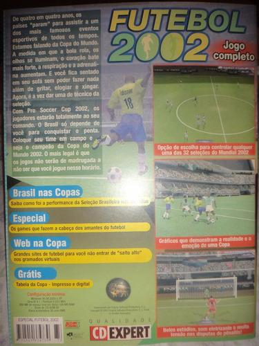 jogo pc: pro soccer cup 2002 (cd expert especial copa 2002)
