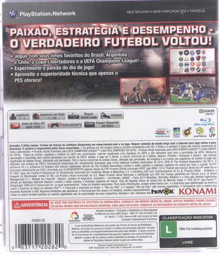 jogo pes 2014 ps3