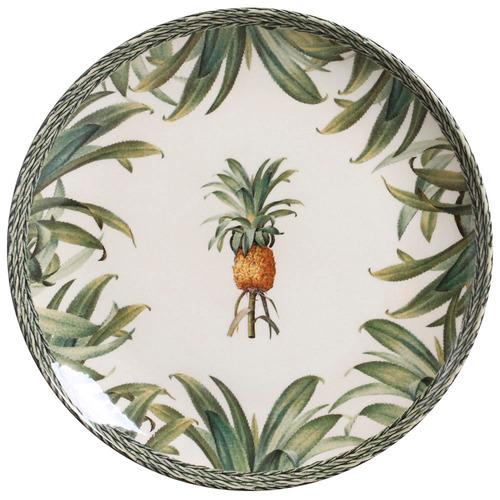 jogo pineapple green pratos rasos sobremesa e xicaras