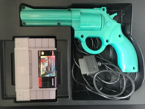 jogo pistola lethal enforcers super nintendo completo caixa