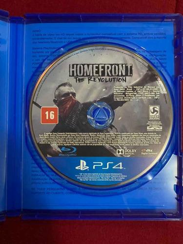 jogo playstation 4 - homefront the revolution