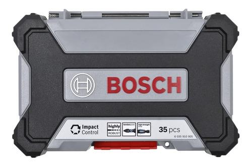 jogo pontas bits brocas impact control bosch 35 pçs maquifer