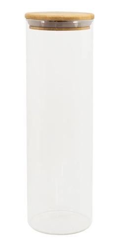 jogo potes de mantimentos tampa de bambu redonda 4 peças