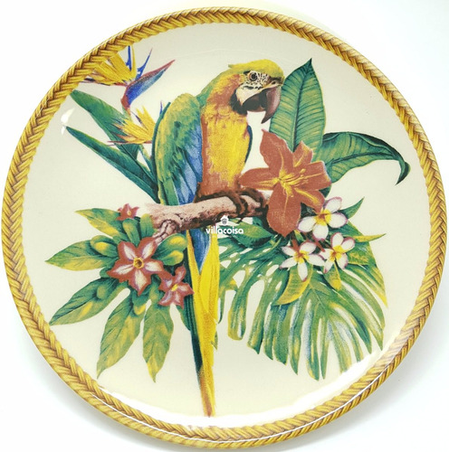 jogo pratos rasos fundos sobremesa porto brasil amazônia 6pc