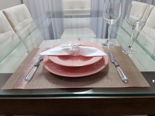 jogo pratos rasos madeleine rosa porto brasil 6 unidades