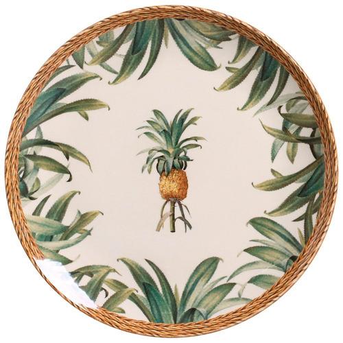 jogo pratos rasos sobremesa porto brasil abacaxi natural 6un