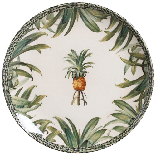 jogo pratos rasos sobremesa porto brasil pineapple green 6un