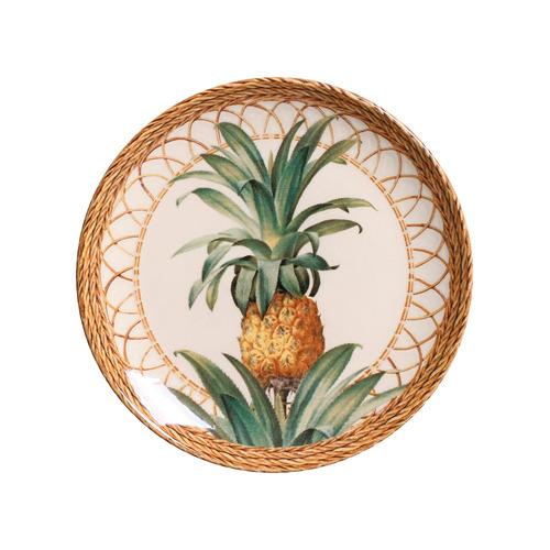 jogo pratos rasos sobremesa porto brasil pineapple natural 6