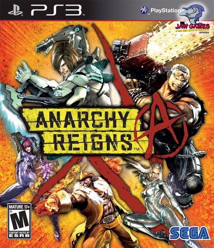 jogo ps3 - anarchy reigns - novo ( frete r$ 9,90 )