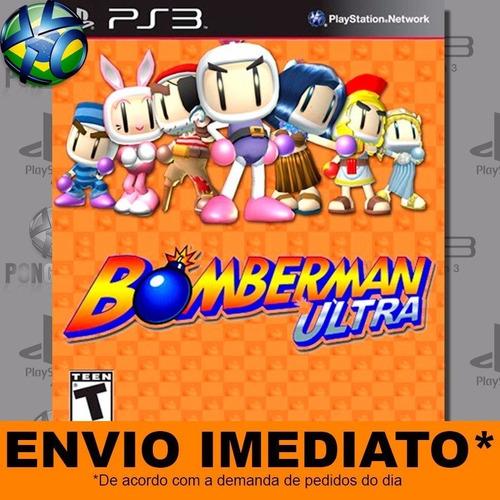 jogo ps3 bomberman ultra psn play 3 mídia digital