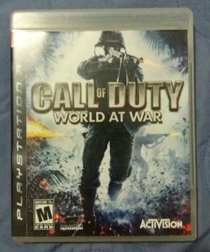 jogo ps3 call of duty world at war mídia física original