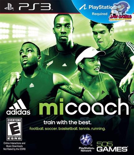 jogo ps3 - mi coach adidas - novo ( frete r$ 9,90 )