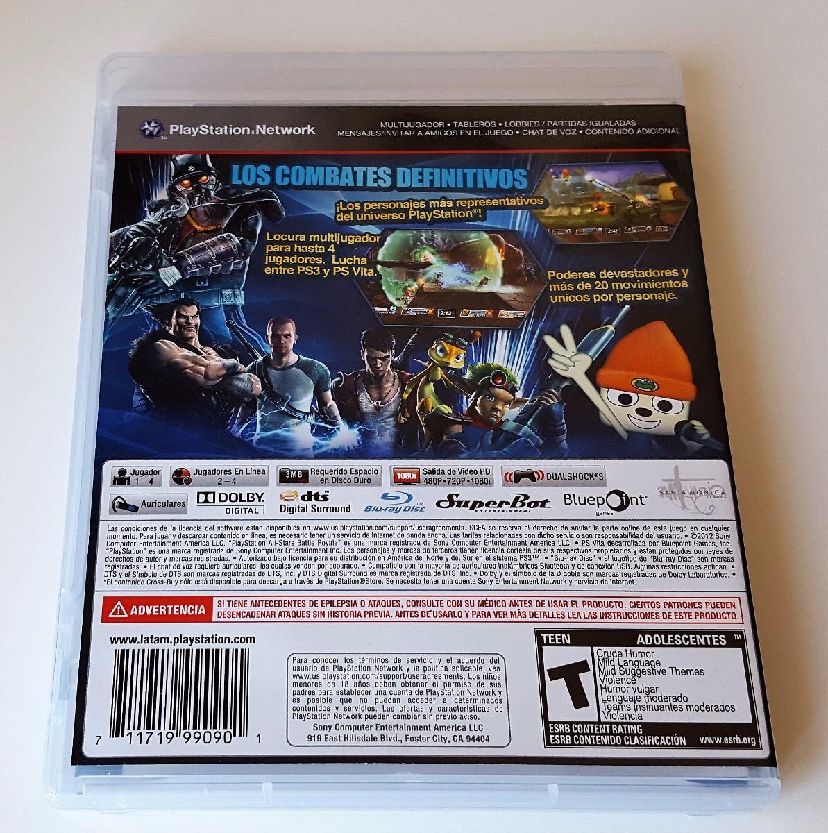 8e27009da3d22 jogo ps3 playstation all stars battle royale envio 12,00. Carregando zoom.