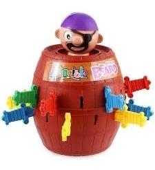 jogo pula pirata barril espada brinquedo infantil