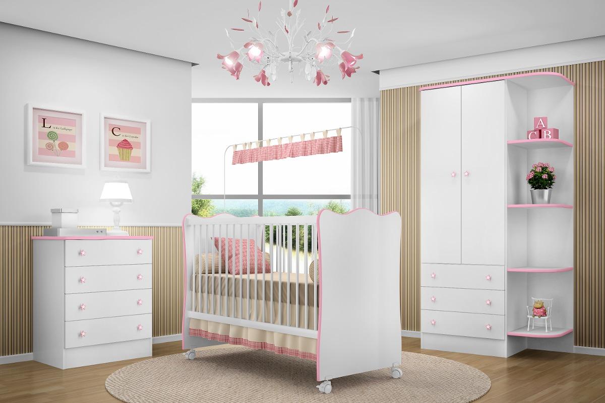 Jogo de quarto infantil beb 3 p s ber o c moda roupeiro r 749 00 em mercado livre - Armarios de bebes ...