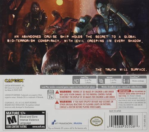 jogo resident evil revelations - 3ds - semi-novo