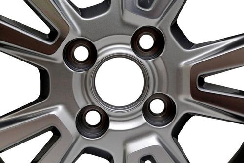 jogo roda completo aro 14 prata diamantada original gm