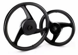 jogo roda liga leve 3 palitos biz 100 125 110i, preto fosco