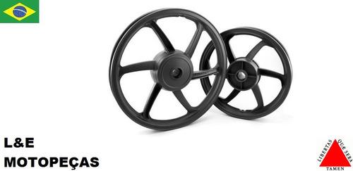 jogo roda liga leve moto fan 125 09 a 2015 freio a tambor