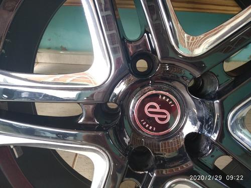 jogo rodas + 4 pneus novo