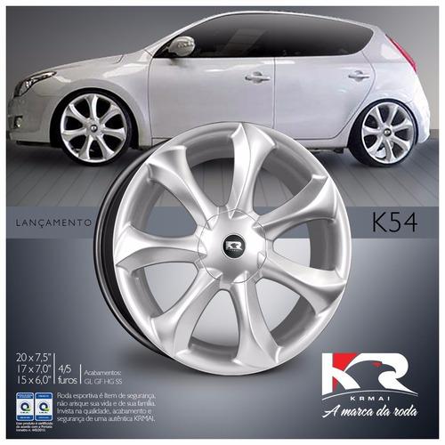 jogo rodas esportiva kr k54 infinity santorini aro 15 leia d
