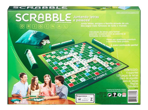 jogo - scrabble - original - turma toda adora - mattel