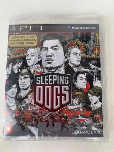 jogo sleeping dogs ps3 - novo-lacrado - mídia física