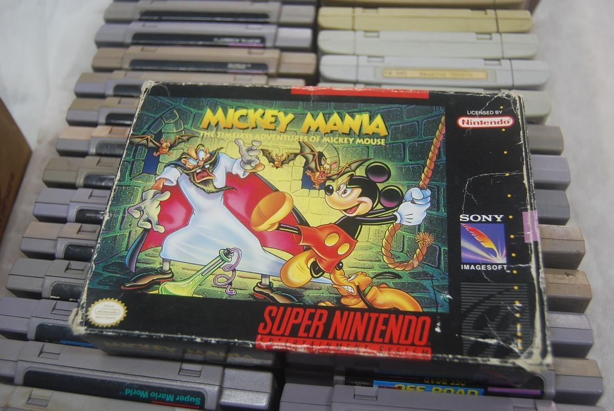 Jogo Snes Mickey Mania Na Caixa Original