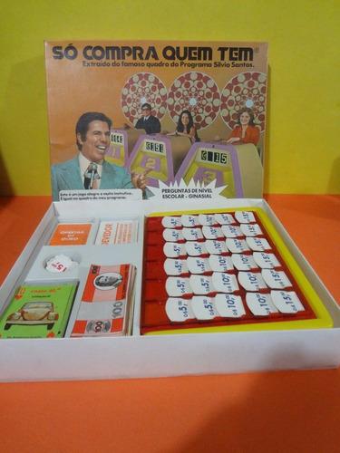 jogo só compra quem tem - silvio santos - raríssimo anos 70